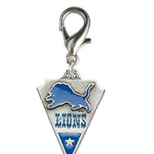 Detroit Lions Pennant Dog Collar Charm