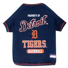 Detroit Tigers Dog T-Shirt - Navy Blue