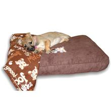 Dog Bed & Blankie Set - Brown
