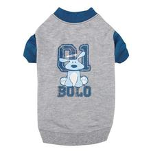 Dog is Good Bolo Raglan Dog T-Shirt - Gray
