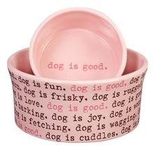 Dog is Good Dogism Dog Dish - Light Blush