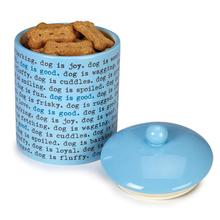 Dog is Good Dogism Dog Treat Canister - Angel Falls