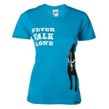 Dog is Good Never Walk Alone Human Shirt- Sapphire