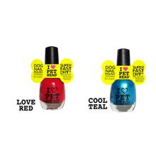 Mommy & Me Dog Nail Polish by Pet Head - Red and Teal