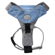 Doggles Blue & Gray V Mesh Harness