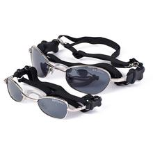 Doggles - K9 Optix Sunglasses for Dogs - Silver w/Smoke Lens
