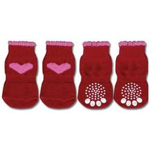 Doggy Socks - Red & Pink Heart