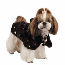 Doris Hooded Dog Cape by Puppia - Black