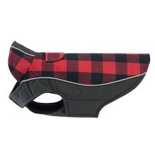 Double Diamond Dog Coat - Red Buffalo Plaid