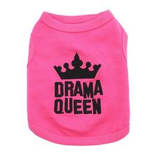 Drama Queen Dog Tank by Parisian Pet - Pink