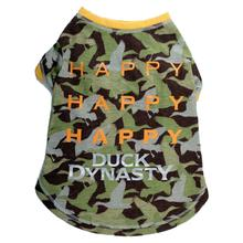 Duck Dynasty® - Happy, Happy, Happy Dog T-Shirt - Green