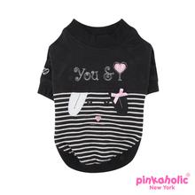 Duet Dog Shirt by Pinkaholic - Black