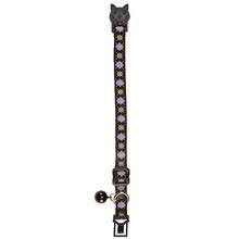 East Side Collection Academy Argyle Cat Collar - Chocolate