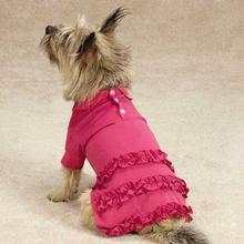 Blooming Brights Polo Dog Dress - Raspberry