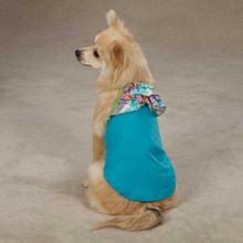 East Side Collection Confetti Ruffle Dog Tank - Bluebird