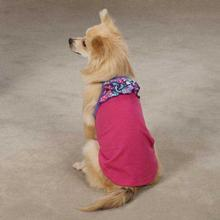 East Side Collection Confetti Ruffle Dog Tank - Raspberry