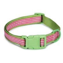 East Side Collection Gingham Sweetie Dog Collar - Green