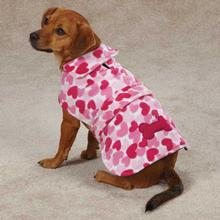 Heart Fleece Dog Jacket - Pink