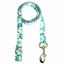 Hibiscus Dog Leash - Blue