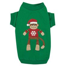 Holiday Monkey Business Dog T-Shirt - Ty