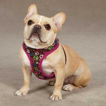 East Side Collection Peace Out Dog Harness - Raspberry