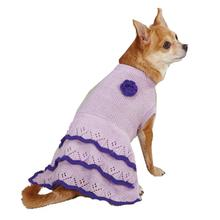 East Side Collection Pointelle Knit Dog Dress - Lilac