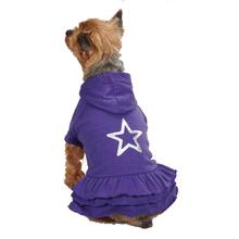 Rock Star Ruffle Hoodie Dog Dress - Star