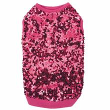 East Side Collection Sassy Sequin Dog Tank - Pink