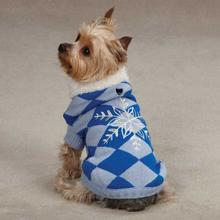 Snowflake Snuggler Dog Sweater - Blue