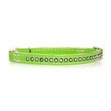 Sparkle Gemstone Cat Collar - Parrot Green