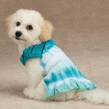 Tie Dye Cover-up Dog Dress - Bluebird