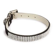 Velvet Rhinestone Dog Collar - Black