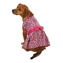 Vibrant Leopard Dog Dress - Raspberry