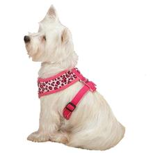 Vibrant Leopard Dog Harness - Raspberry