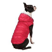 Vibrant Leopard Dog Vest - Raspberry