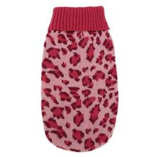 East Side Collection Vibrant Leopard Dog Sweater - Raspberry
