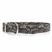 East Side Collection West End Dog Collar - Silver Python