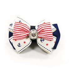 EasyBOW Nautical Stripes and Anchors Dog Collar Attachment by Dogo