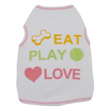 Eat Play Love Dog Tank Top - White