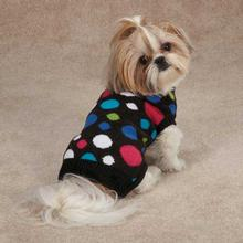 Electric Knit Dog Sweater - Polka Dots