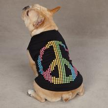 Electric Peace Sign Dog Tank Top - Black