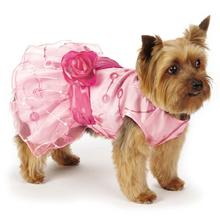 Elegance Rosette Dog Dress by East Side Collection - Pink