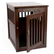 End Table Dog Crate - Mahogany