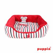 EOS Nautical Dog Bed by Puppia - Red