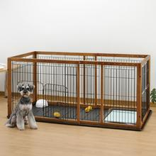 Expandable Pet Pen with Floor Tray - Brown/Black