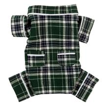 Fab Dog Plaid Flannel Dog Pajamas - Green