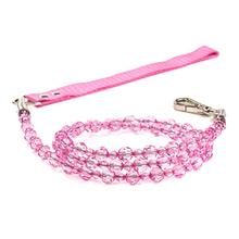 FabuLeash Beaded Dog Leash - Rose Pink