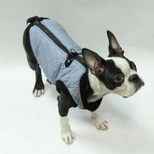Fashion Bomber Dog Vest by Gooby - Gray