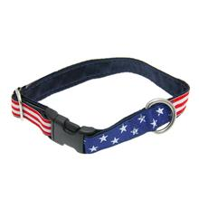 Grand Old Flag Satin Lined Dog Collar