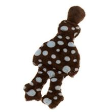 Flat Quack Stuffing-Free Dog Toy - Brown with Dots